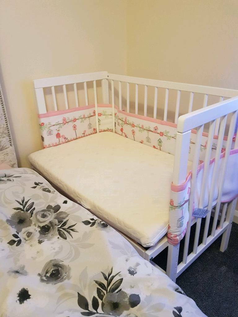Co Sleeping Crib With New Mattress In Cheadle Hulme Manchester