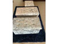 New Crushed velvet storage boxes