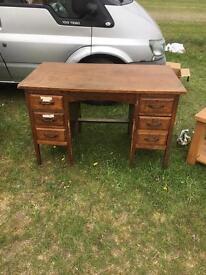 Early 20th century oak desk