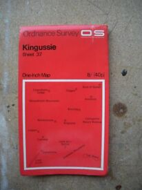"Ordnance Survey 1"" map - Sheet 37 Kingussie - 1962 edition"