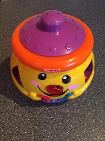 Fisher Price cookie jar with number shapes and sounds - shape sorter