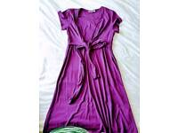 New size L JoJo Maman Bebe Maternity dress and 4 used tops