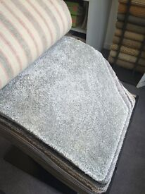 Luxury Silver Grey Soft Carpet Offcut / Remnants (3 pieces)