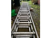 Aluminium Class 1 Industrial/Site ladders, triple set.
