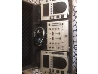 Professional Console for Dj with Pioneer CDj 100