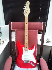 STRATOCASTER STYLE GUITAR UNBRANDED IN AS NEW CONDITION