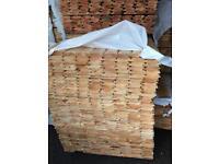 New timber log cladding 14 ft