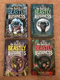 Beastly business children's books age 7+ x4
