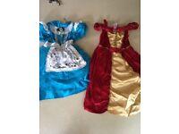 Two Disney dress up dresses 5-6