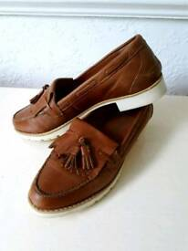 NEXT TAN LOAFERS SIZE 5