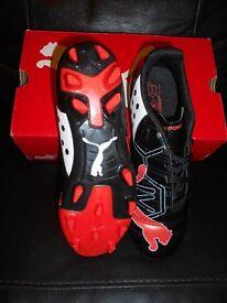 Puma Evo Power 4 Firm Ground Football Boots Size 5.5