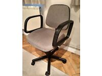 Height Adjustable Swivel Office Chair with Wheels