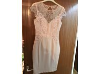 Nude Lipsy lace bodycon dress