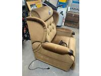 Recliner/ massage chair with built-in reading light!