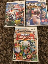 Nintendo Wii Games incl Super Smash Bros