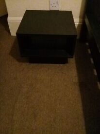 A pair of black-brown bedside tables - ideal for Ikea Malm bed height