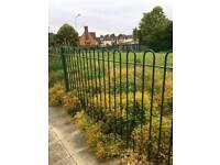 Bowtop iron railing ... fencing