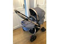 Mothercare orb pram with cosytoes