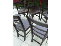 NEXT WOODEN DINING CHAIRS SET 6