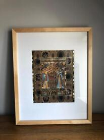 Framed Egyptian picture