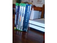 Xbox one s 500gb used with 5 games and custom contoller