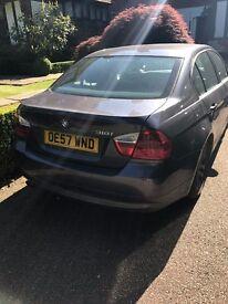 BMW 318i SE, 4 door, 2008, grey, only 1 previous owner, NEW MOT, superb car.