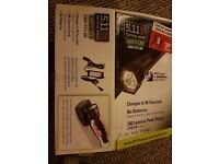 5.11 Tactical 'Light for Life' Rechargeable Flashlight with AC Adapter & in Car Charger