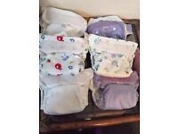6 x nearly new Bambino Mio Miosolo reusable cloth nappies