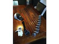 Callaway Big Bertha Irons 4 - S inc 3 Wood, Cap and glove.