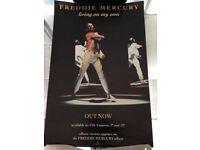 FREDDIE MERCURY. LIVING ON MY OWN. ORIGINAL PROMOTIONAL MINI POSTER. 1993