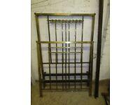 Antique single brass bed, wonderful