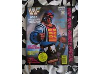 RARE WWE/ WWF WRESTLING SUPER STARS POSTER MAGAZINE NOT SURE WHOS IS ON COVER HAVE OTHER MAGAZINES