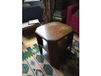 Art Deco coffee table solid wood