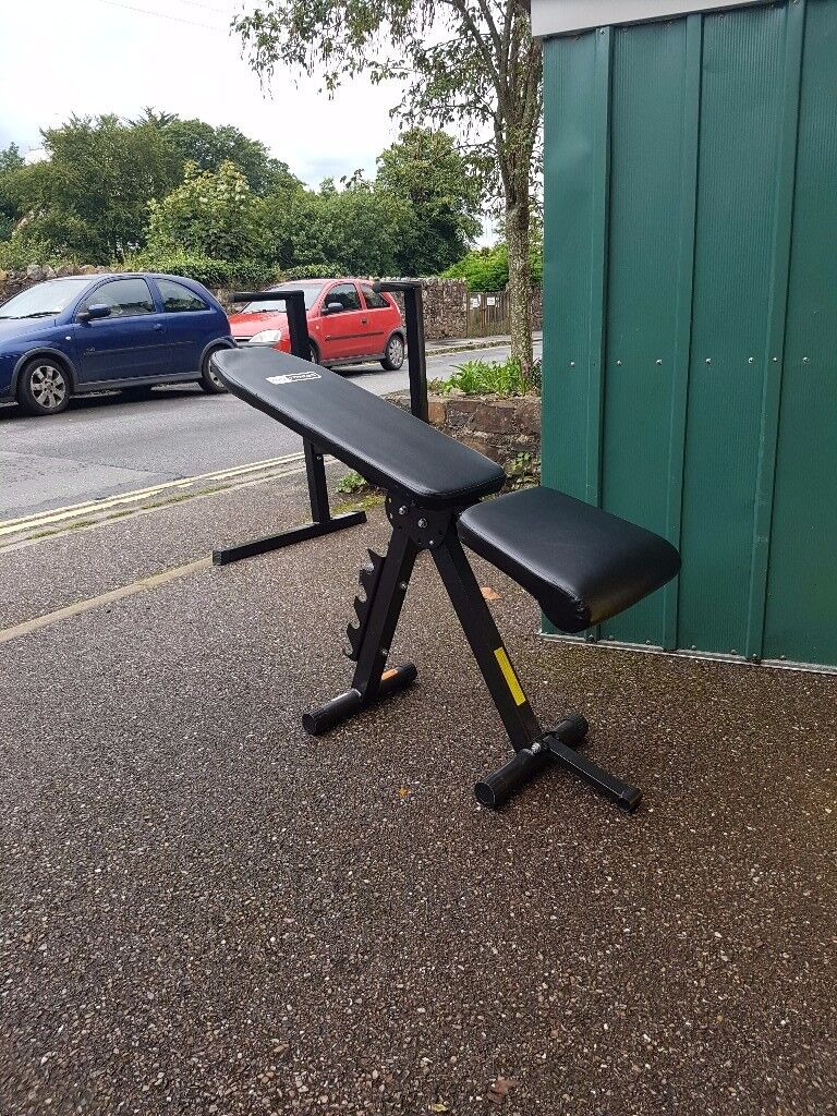 Folding weight bench adjustable multi gym + dip station(free)