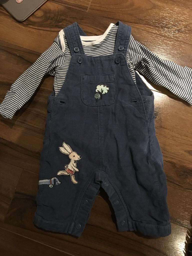 x 2 Baby Boy outfits size up to a month