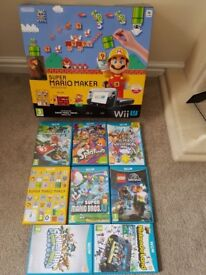 Nintendo Wii U plus 8 games