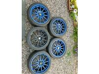"5x Team dynamics pro race 1.2 alloys 4x100 17"" Renault mini vauxhall"