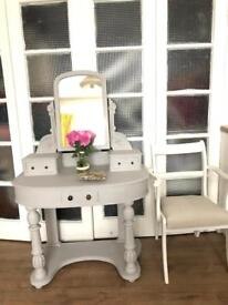 """Victorian dressing table/console table Free Delivery Ldn🇬🇧shabby chic """"Grey Paris"""""""
