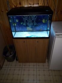 70 litre fiah tank for sale with stand