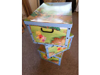 3 x lovely Disney Winnie The Pooh large cardboard storage boxes, perfect for a nursery.