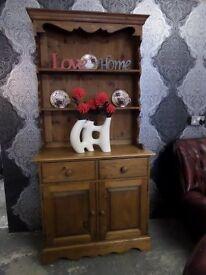 Stunning Pine Reclaimed Vintage Welsh Dresser Waxed Finish - UK Delivery