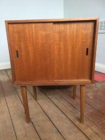 Retro vintage wooden side table / storage unit