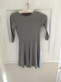 Grey skater dress. Size 8