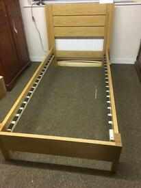 Solid oak single bed * free furniture delivery*