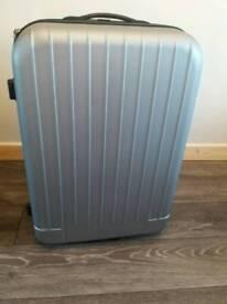 Large grey suitcase