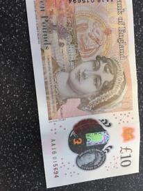 10 pound serial number AA01 AA08 AA16 AA16