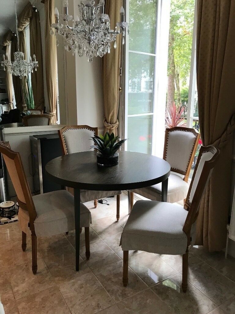 Elegant gillmore space fitzroy circular dining table and chairs 4