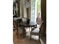 Elegant Gillmore Space Fitzroy Circular Dining Table and Chairs (4)