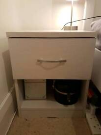 2 Brand new unopened still in box white bedside tables