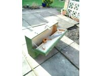 vintage carpenters handmade box and a saw included